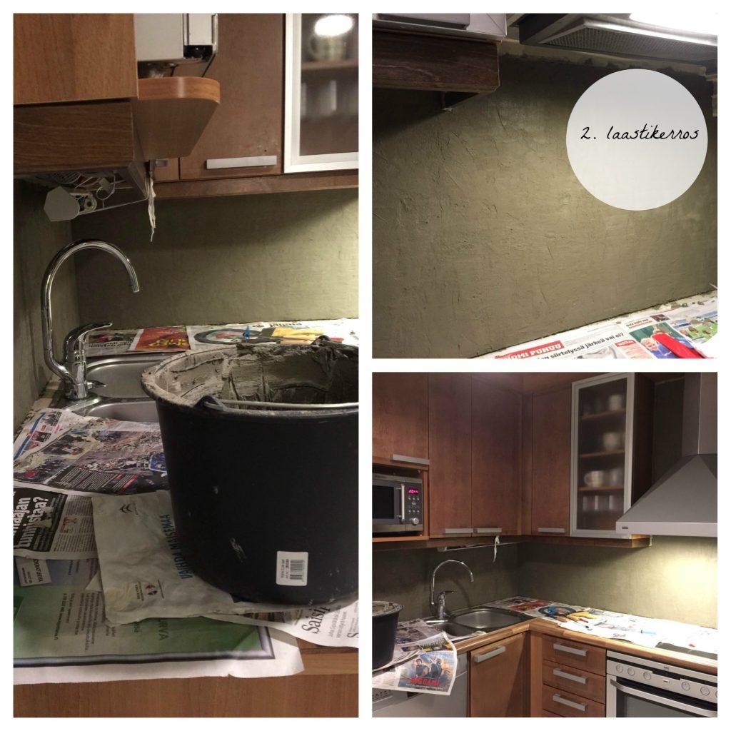 Näin remontoit keittiön välitilan saneerauslaastilla.
