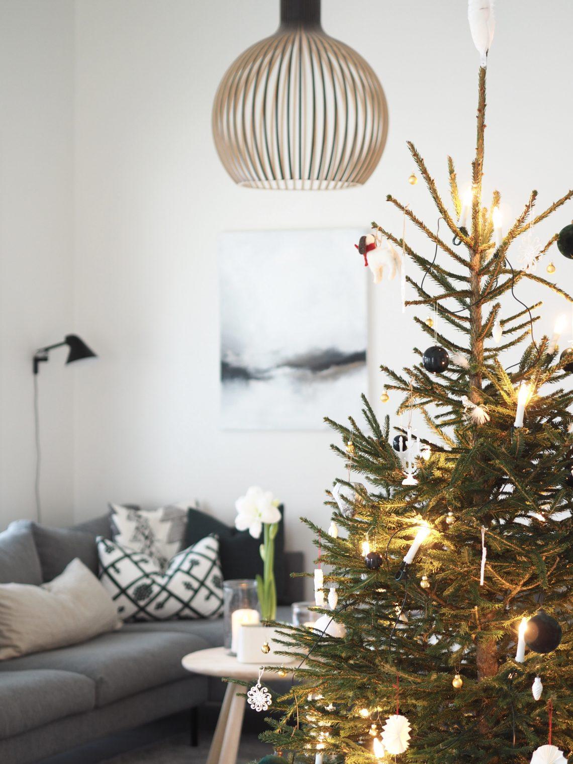 olohuoneen joulu